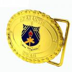 3D Design Custom Promotional Gifts Personalized Gold Custom Steel Belt Clamp With Teeth