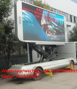China HOT SALE! 2019s up-straight outdoor mobile LED advertising billboard semitrailer, best price mobile P6/P8 LED trailer on sale