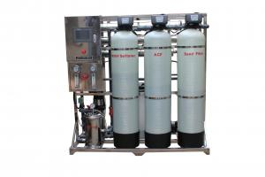 China 1000LPH FRP Reverse Osmosis Water Treatment Plant For Bottled Water Production on sale