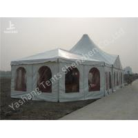Combined A Frame And High Peak Pagoda Wedding Marquee Tents Hard Aluminum Alloy Frame