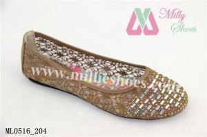 China Fashion Casual Lady Ballet Flat PU Shoe on sale
