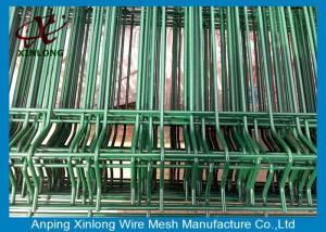 China Los polvos rociaron la cerca soldada con autógena capa de la malla de alambre para el color verde oscuro del patio on sale