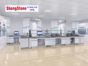China Wholesale China market hot sale lab bench with reagent shelf on sale