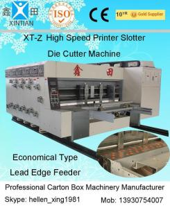 China Corrugated Carton Box Flexo Printer Slotter Die Cutter Machine Baffle 40cm on sale