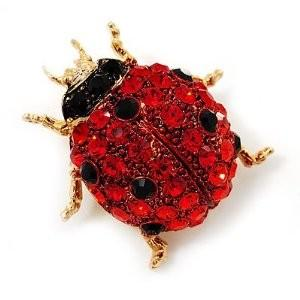 China Adorable Red Ladybug Crystal Hinge Cuff Bracelet Metal Casting Jewelry for party  on sale