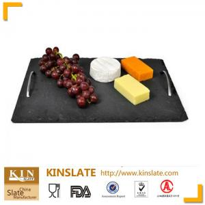 China Natural Rectangle slate plate slate cheese slate tray series product on sale