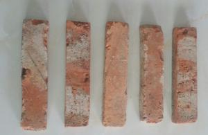 China Red Reclaimed Clay Bricks Free Sample For Background Wall 240*50*20mm on sale