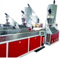 China polythene with wood powder deck making machine, Outdoor wood plastic profile production machine on sale
