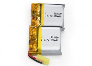 China 3.7V 180mAh Lithium Polymer Li-ion Rechargeable Battery 602020 For Bluetooth Headphone on sale