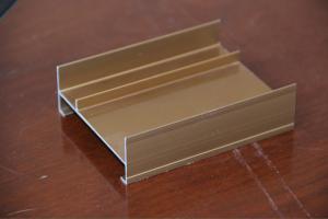 China As extrusões de alumínio da porta da forma de H para o lado penduraram portas, pintura de PVDF on sale