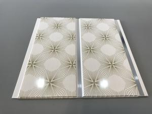 China Yellow - Green Durable PVC Wall Panels With Fireworks Design Interlock Simple To Fit on sale