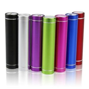 China Colorful 2600mAh Cylinder USB Power Bank External Battery Charger on sale