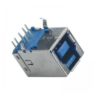 China B TYPE 3.0 USB Computer Pin Connectors Right Angle DIP LCP 94V-0 Right Angle Connector on sale