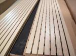 Lightweight Decoration Wooden Grooved Acoustic Panel / Sound Absorbing Panels