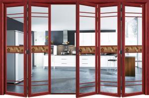 China Commercial Exterior Double Folding Doors / Aluminium Folding Patio Doors on sale