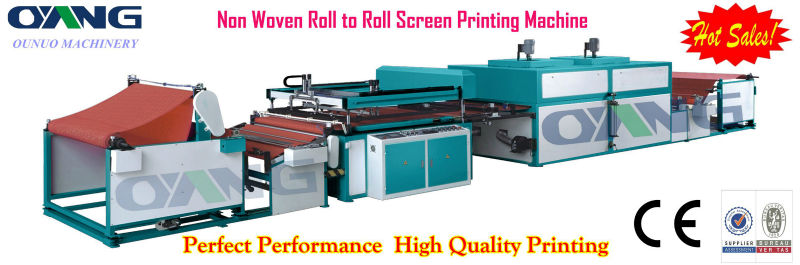 Full automatic single color roll to roll non woven fabric <strong style=
