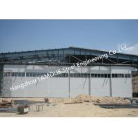 Multi Sector Structural Hinged Doors Bottom Roller Sliding Hangar Door Smart Track Design