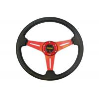 Auto Accessories PVC Shell Deep Dish Steering Wheel 350 Mm With Aluminum Stand