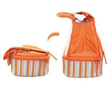 Lead Free Peva Lining Orange Tote Bag Insulated Lunch Box Images