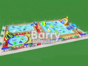 China New design portable inflatable water park playground with elephant slide park for summer on sale