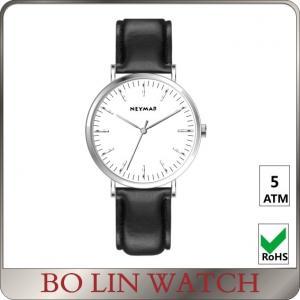 China Modern Looking Black Minimalist Wrist Watch All Stainless Steel Customize Logo on sale