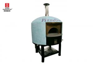 China Restaurant Italy Stainless Steel Pizza Oven Gas Heating Napoli Style Lava Rock on sale