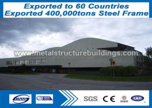 China Portal Frame Connections Formed Prefab Metal Buildings Long - Span Iso Passed on sale