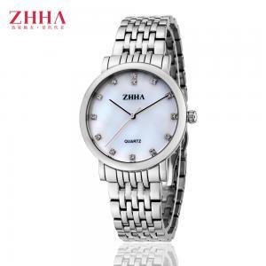 China ZHHA Men Fashionable Silver Round Stainless Steel Mesh Band Gift Quartz Gents Wrist Watch on sale