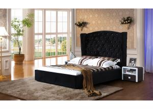 Quality Upholstered Velvet Platform Bed Plush Design Customized Service for sale