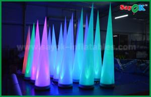 China Colorful Lighting Stage Decoration Inflatable Cone For Club / Promotion on sale