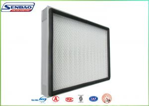 China H13 H14 Mini Pleat Panel Hepa Air Filters For Central Air Conditioning on sale