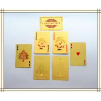 57 * 87mm standard 52 cards 24K Custom Playing Cards Christmas gifts