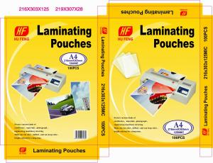 China A4 A3 80MIC 125MIC thermal hot PET  laminating pouch film laminating lamination pouches pouch laminating laminate film on sale