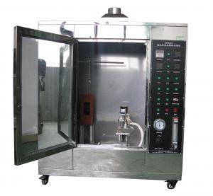 China Conveyor Vertical Fire Testing Machine / Flammability Test Chamber ISO340 on sale