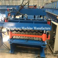 Double-deck Tile Roofing Sheet Roll Forming Machine hydraulic motor control