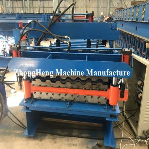 China Double-deck Tile Roofing Sheet Roll Forming Machine hydraulic motor control on sale