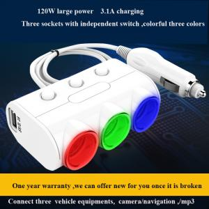 China Car Dual USB 2.1A 1A car Cigarette lighter socket Power Supply car Charger Adapter Outlet Auto Socket on sale