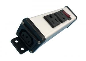 China 2 Way Outlets AC PDU Power Distribution Unit Mountable For Workbench UL Approved on sale