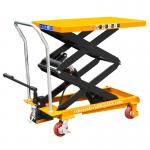 Warehouse Manual Lift Table Double Scissor Type 1.5 Meter Easy Operation