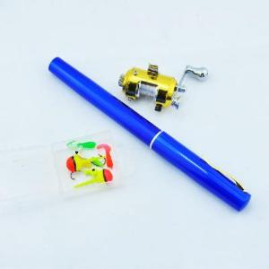 China Mini pocket fishing rod Pen , fish pole,rod /1m Golden reel on sale