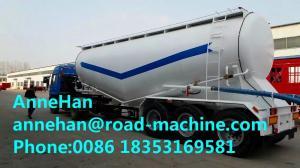 China 30-60M3 bulk cement tank truck trailer manufacturer tongya 3 axles bulk cement tank semi trailer on sale