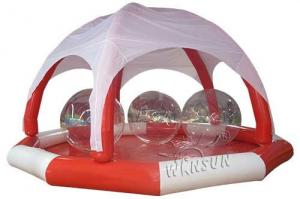 China PVC Large Inflatable Swimming Pool , Huge Inflatable Circle Pool With Tent on sale