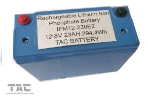 China Blue 12V LiFePO4 Battery Pack 26650 23AH With Housing UL2054 For Sloar Lighting on sale