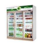 Vertical Upright Commercial Beverage Cooler For Flower Meat With Glass Door