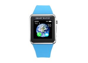 China Bluetooth  Smart Watch With Camara And Pedometer  ,Andriod Blue Wrist Watch on sale