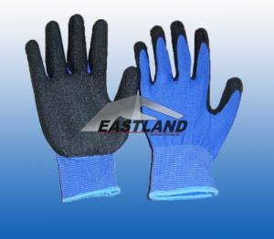 China Labor Safety Latex Coated Gloves Crinkly on sale