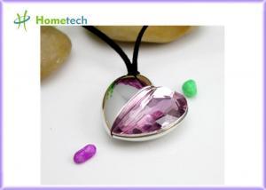China Heart Shaped Crystal Heart USB Flash Drive on sale