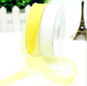 China Gold Edge solid 196 color 25cmOrganza Ribbon,Gift Ribbon,Organza ribbon,fashion ribbon,silk Organza,Clothing Accessories on sale