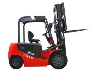China 3 Ton Large Capacity Electric Forklift Truck Streamlined Design With Electric Motors on sale