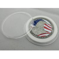 Zinc alloy Metal Double Sided Air Force Coin / Personalized Eagle Coin with Antique Silver Plating